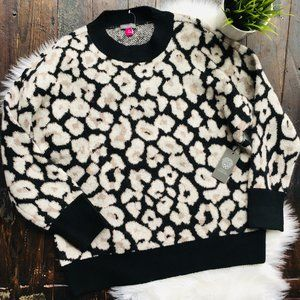 VINCE CAMUTO Leopard Oversized Sweater MED NEW NWT